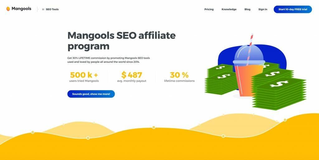 kw finder affiliate program tool