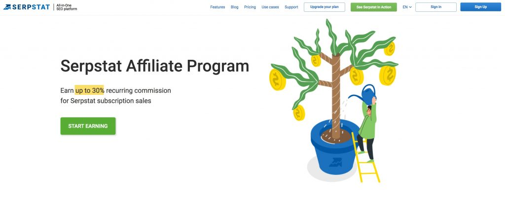 serpstat affiliate page