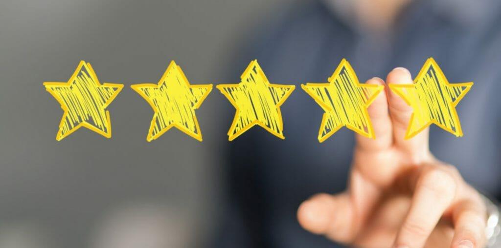 star ratings 5 stars