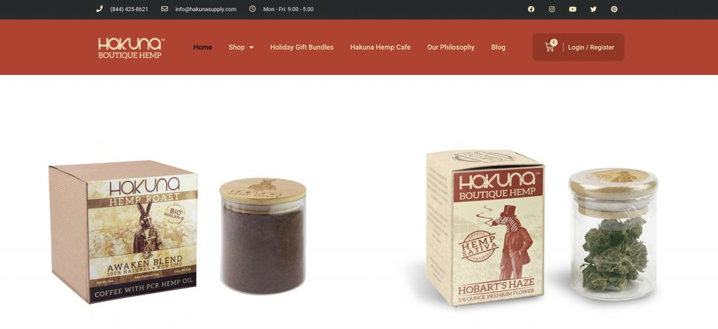 Hakuna Supply CBD homepage