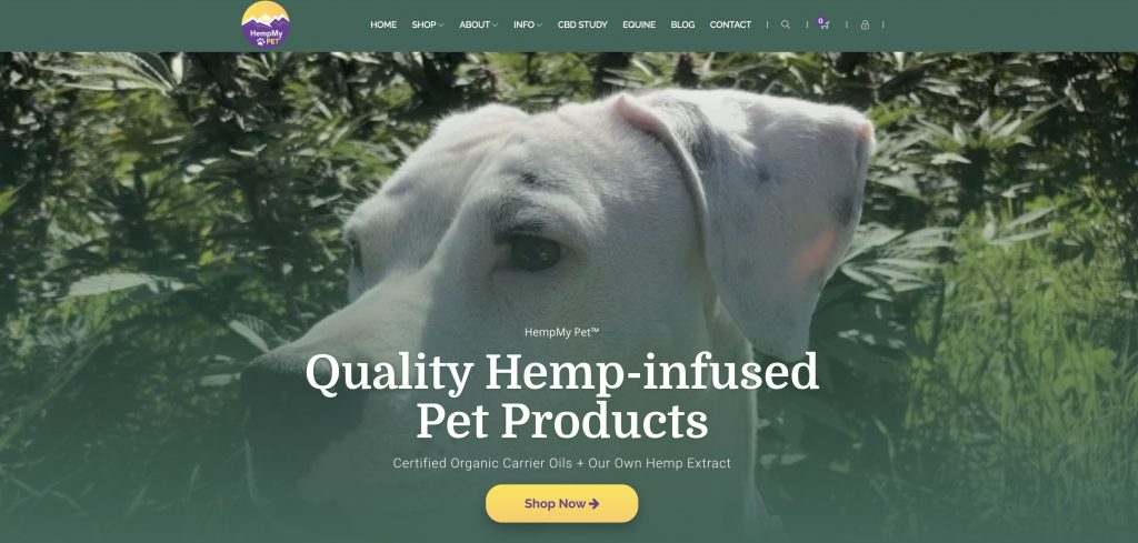 HempMy Pet Affiliate Program homepage