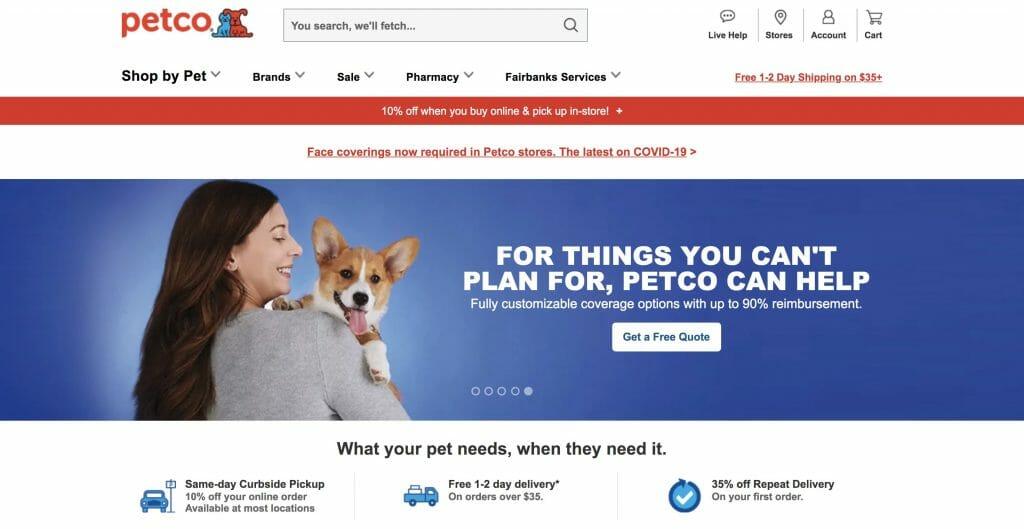 Petco Affiliate Program Homepage