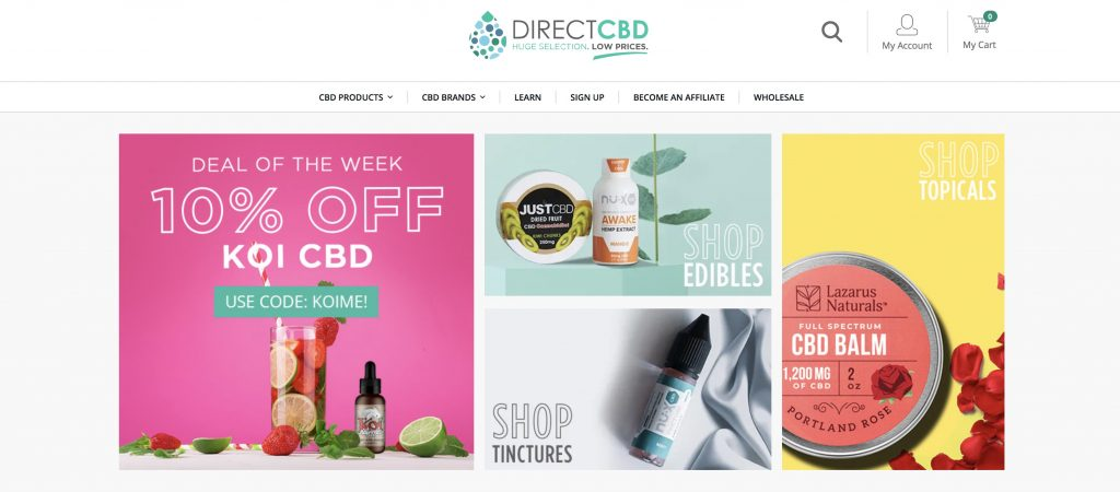 direct cbd homepage