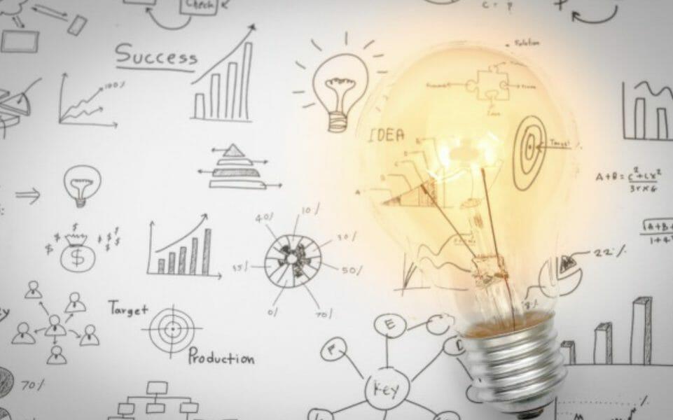 idea bulb on marketing
