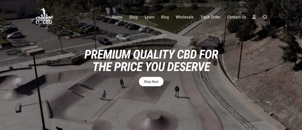 savage cbd homepage