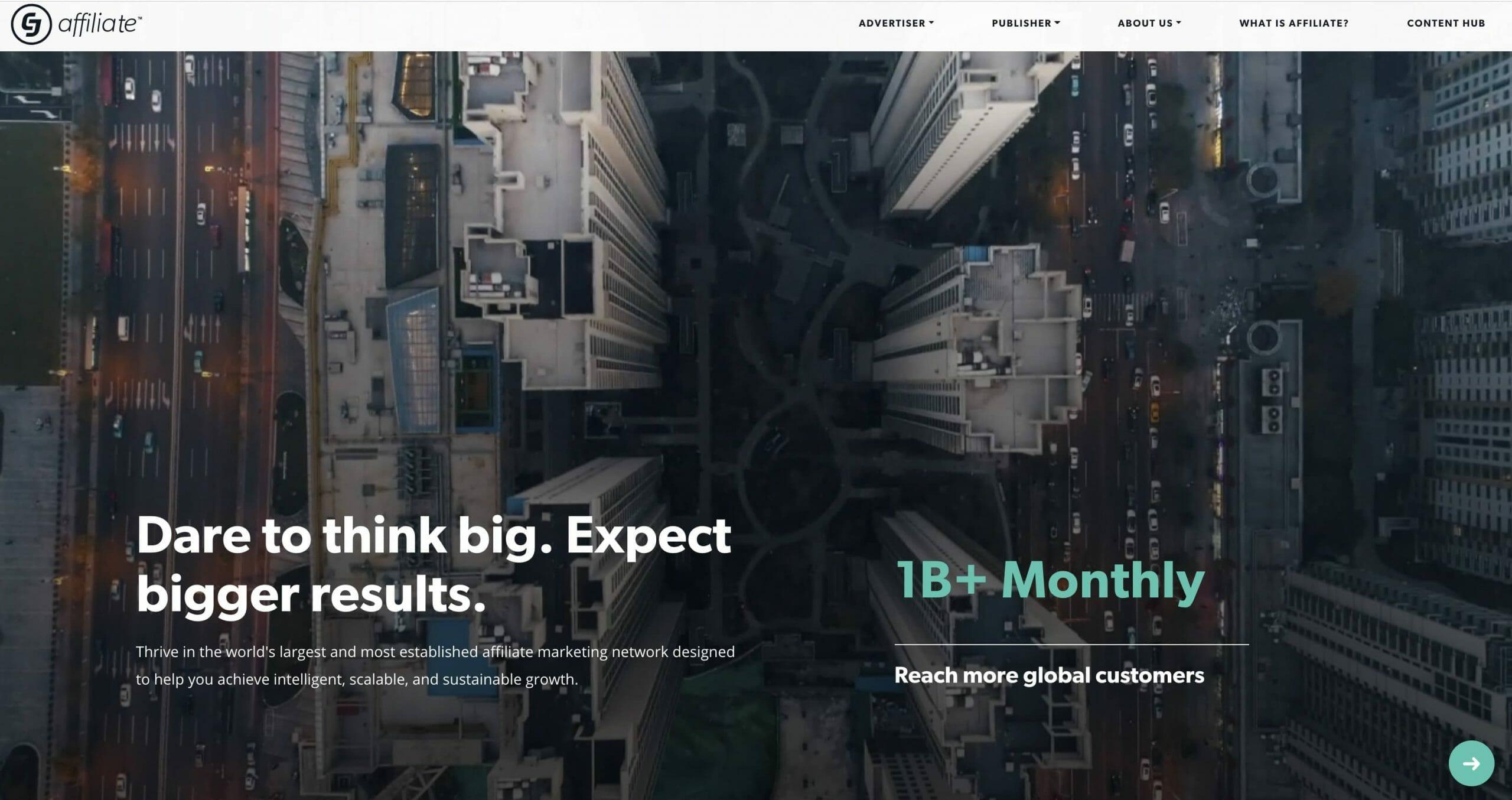 CJAffilite Homepage Snapshot