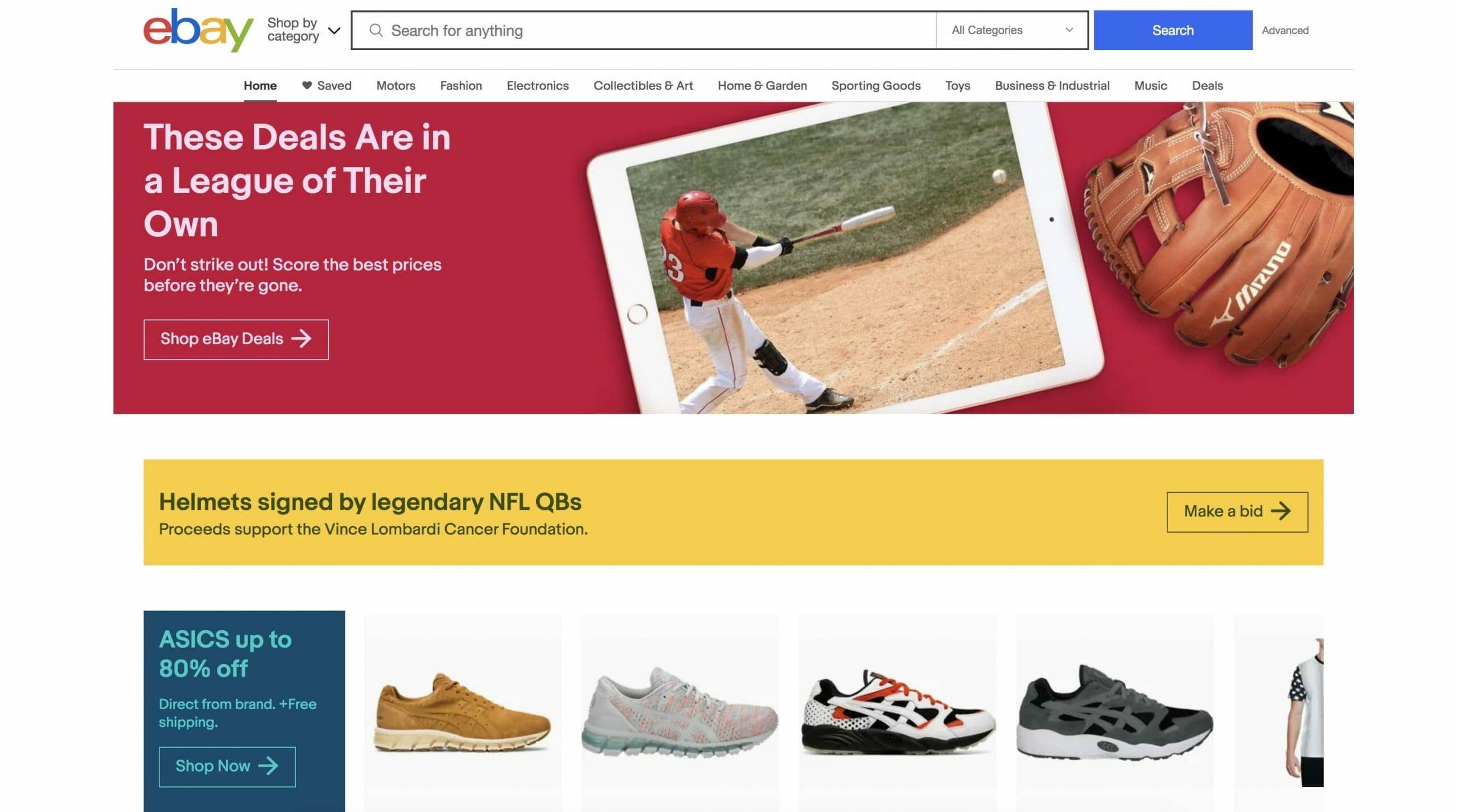 ebay Homepage Snapshot