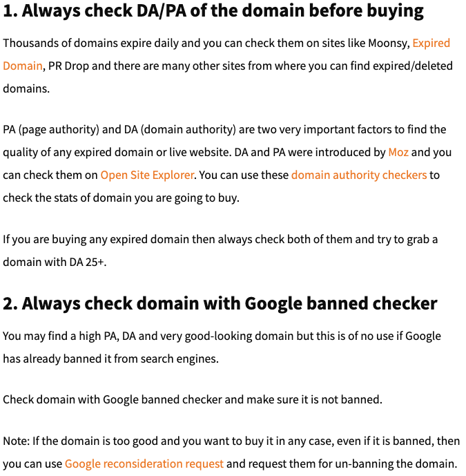 Always Check The Domain Authority
