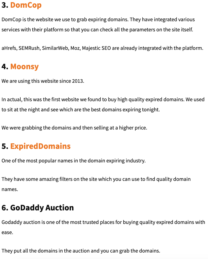 DomCop and GoDaddy Auction