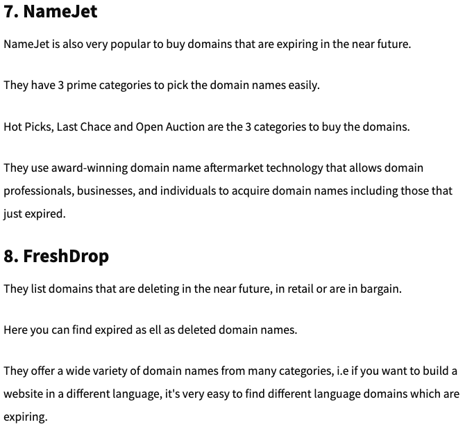 NameJet Review