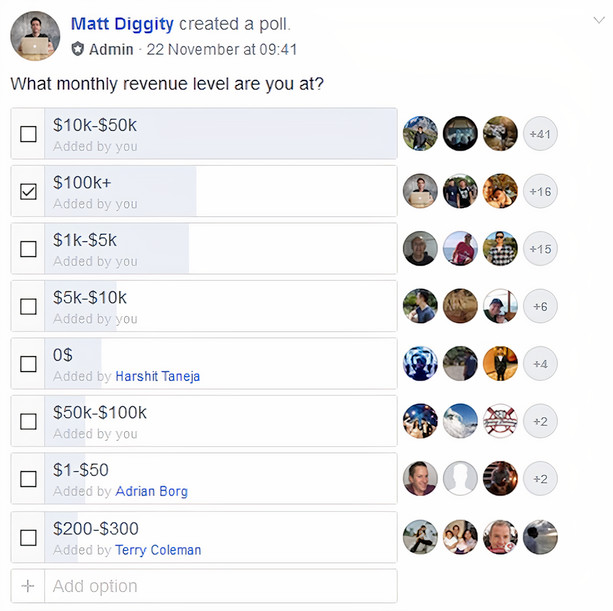 course members using affilitate marketing to make money