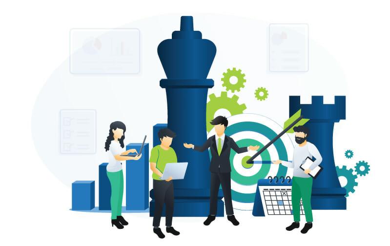 affiliate marketing strategy illustration