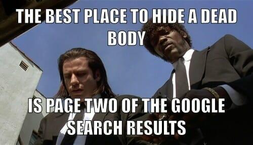 hide dead body on page 2 meme