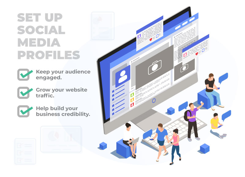 search engines optimize with social profiles