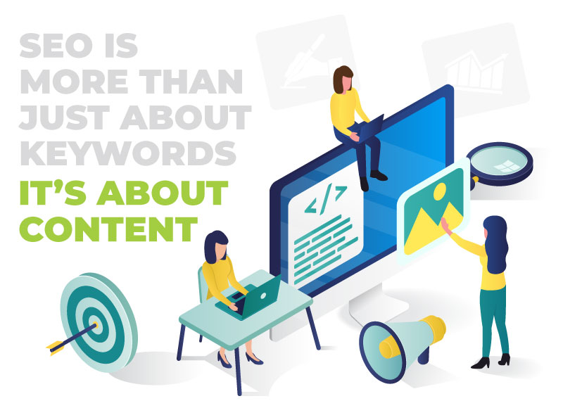 search engines optimization through content