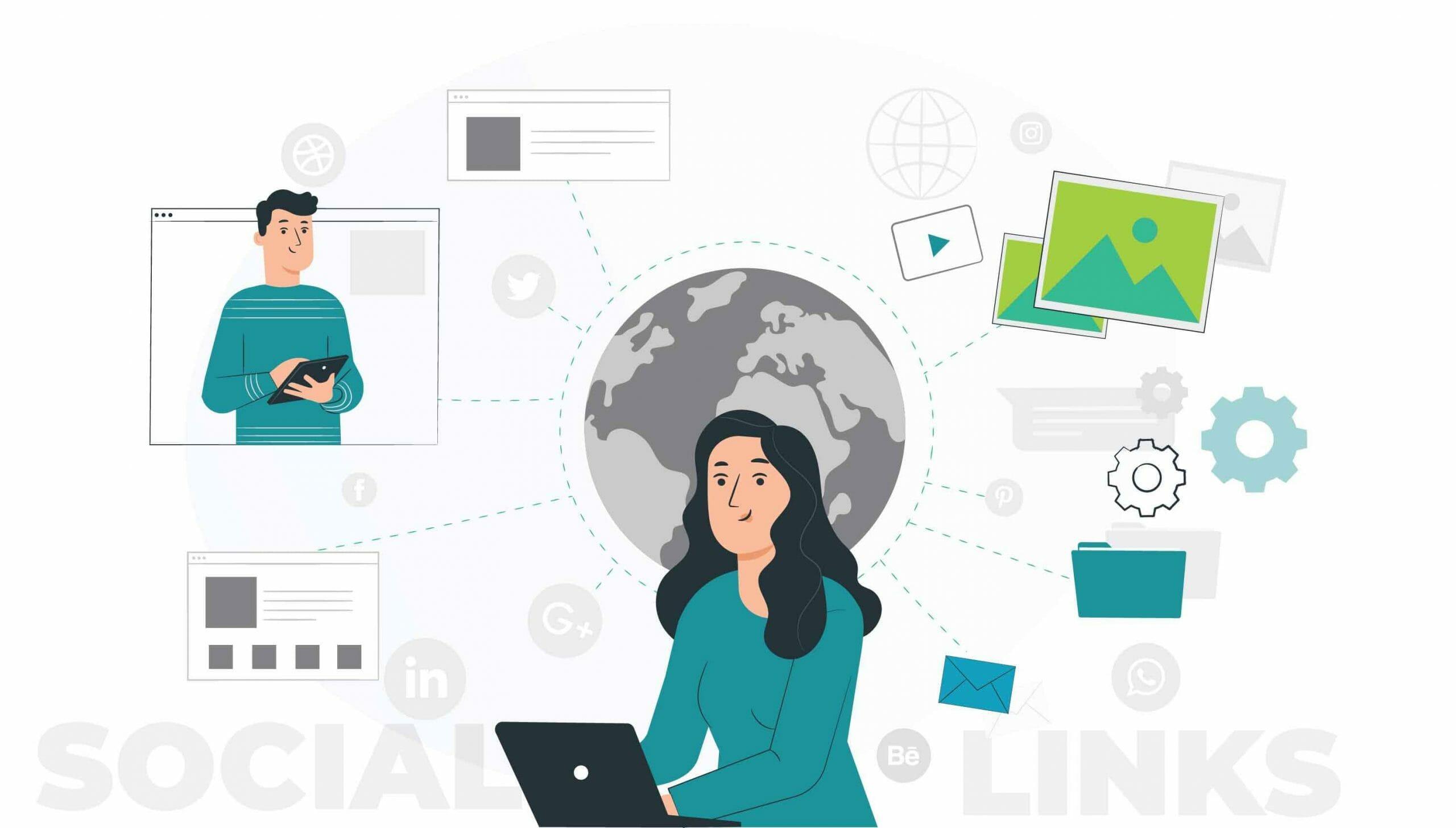 social links profiles