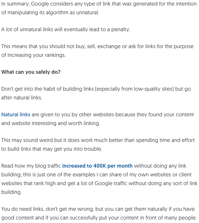 How To Safely Build Links