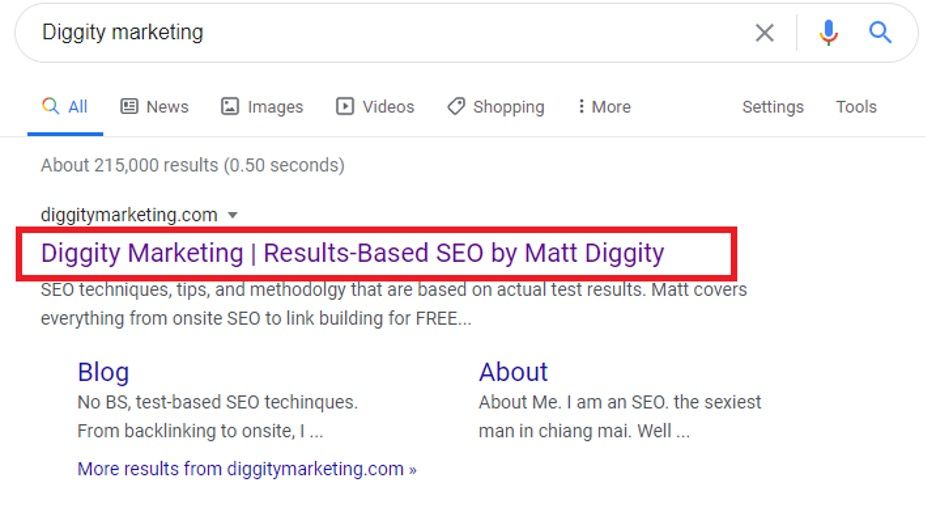 diggity marketing page title serp