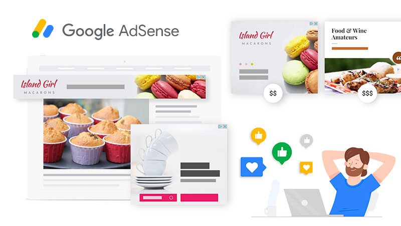 Google Adsense screen