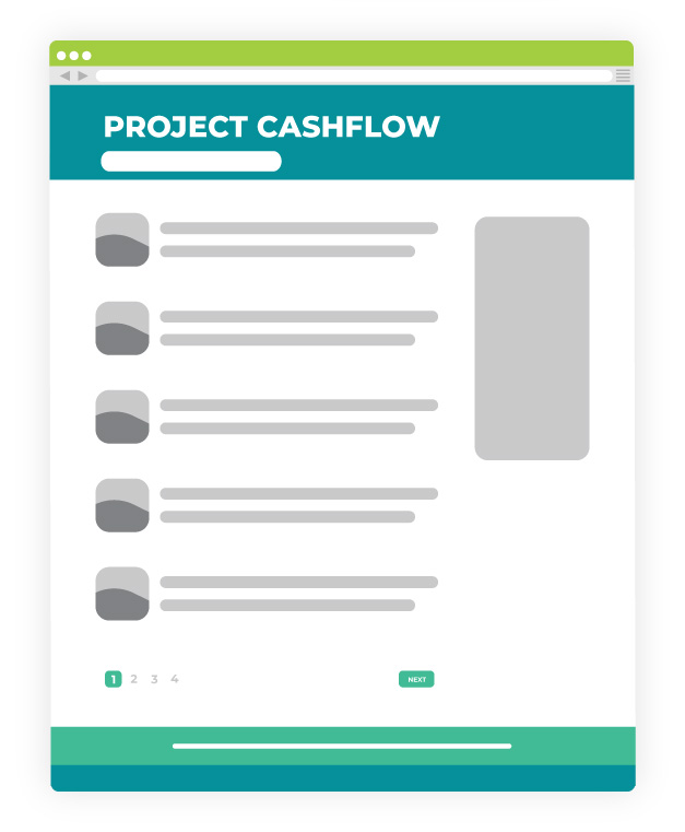 Homepage Redesign Before Project Cashflow