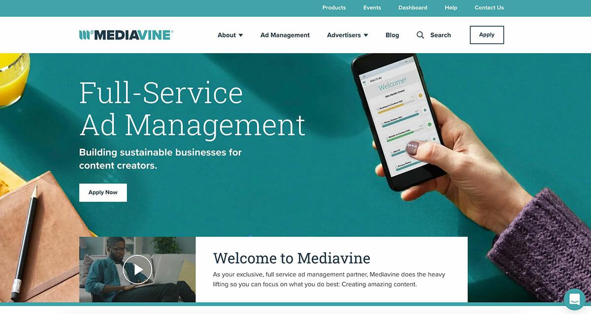 Mediavine Homepage