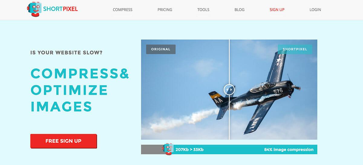 Shortpixel-homepage-screenshot