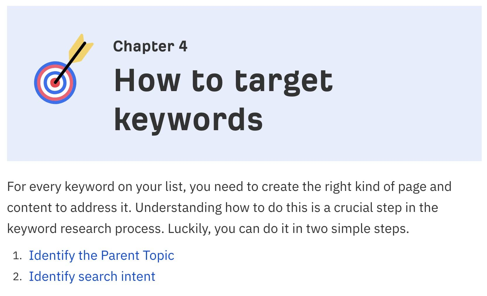 how to target keywords arefs