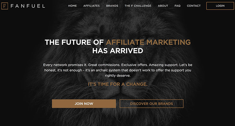 Fanfuel homepage