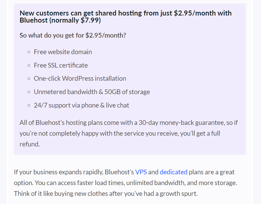 bluehost price plans
