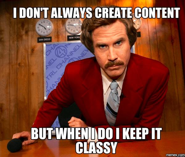 classy new content meme