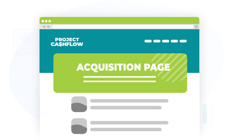 project cashflow acquisition page