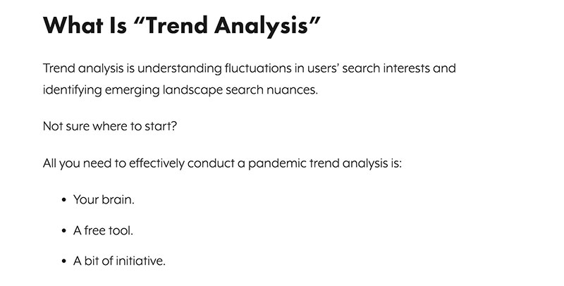 trend analysis from SEOJournal
