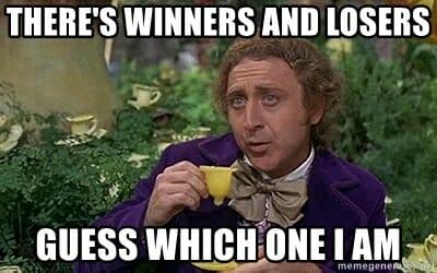 winner and losers seo meme