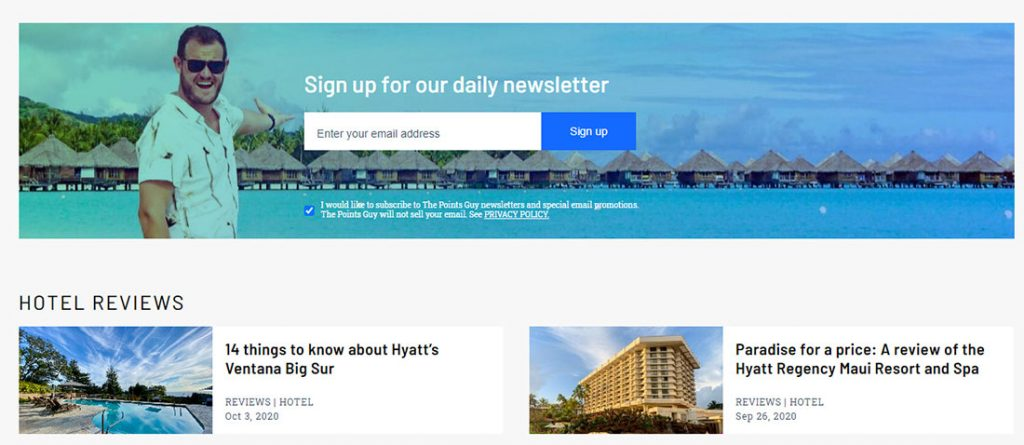 daily newsletter by point guy