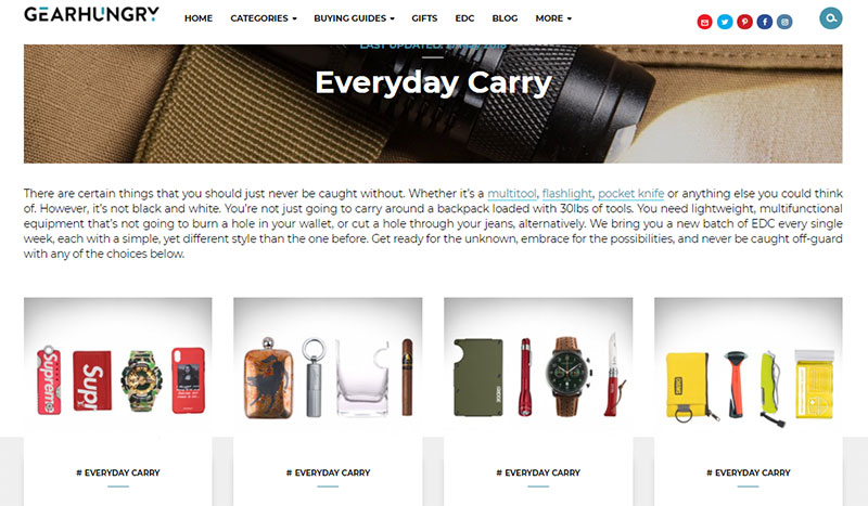 everyday carry gear hungry