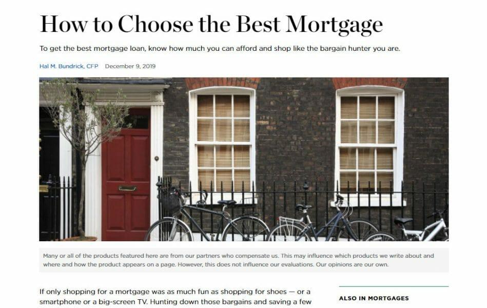 how to choose best mortgage nerdwallet