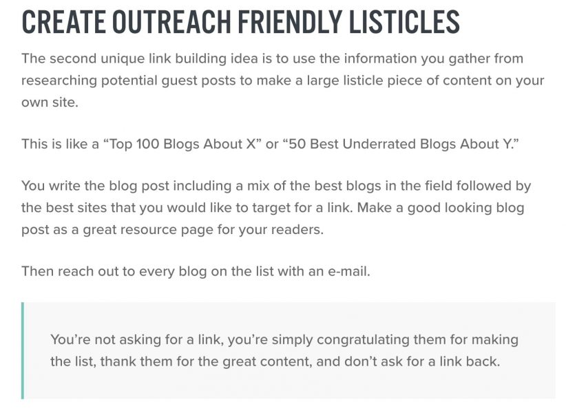 listicle from niche pursuit