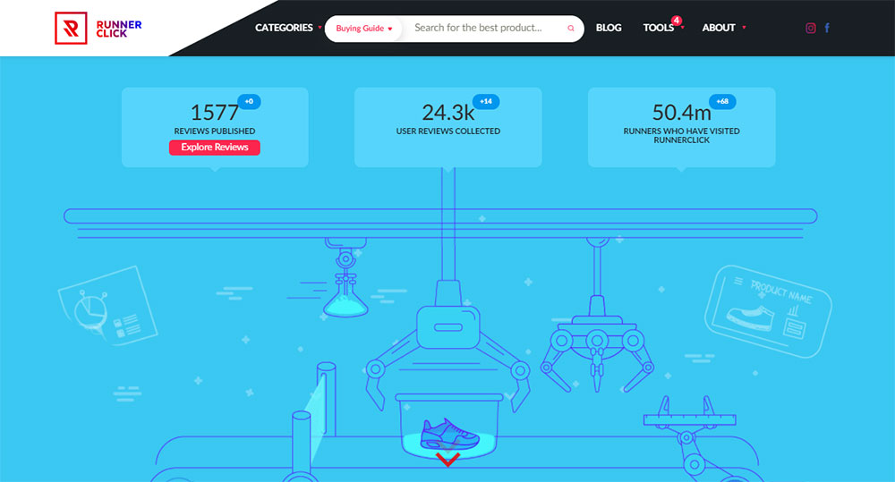 Runner Click attracts 300,000 visitors per month