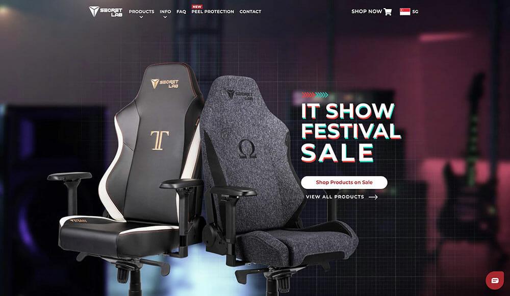 secretlab homepage