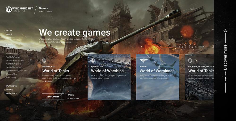 wargaming homepage