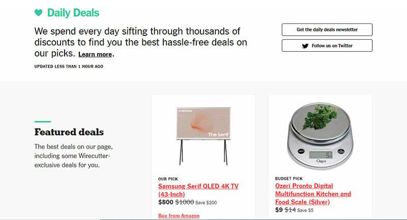 wirecutter daily deals
