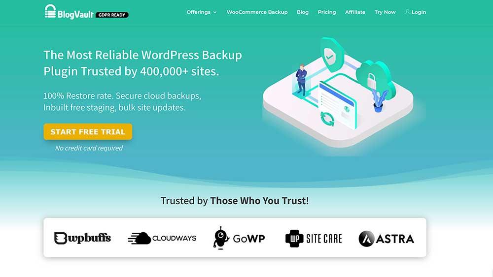 Blog Vault homepage