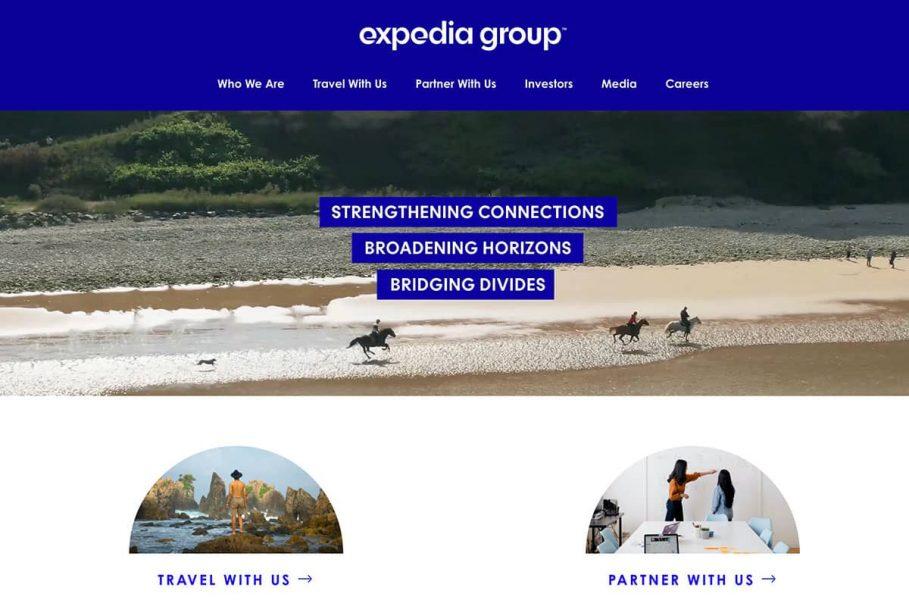 Expedia Group Homepage