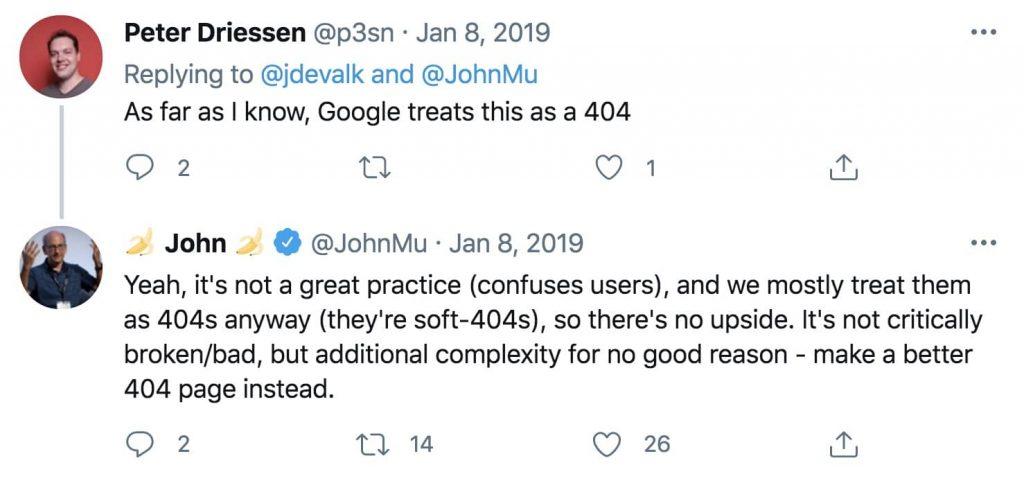 John Mu Tweet on 404