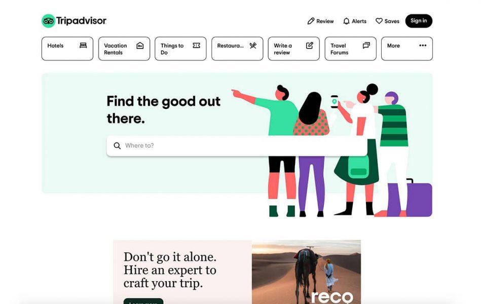 TripAdvisor Homepage