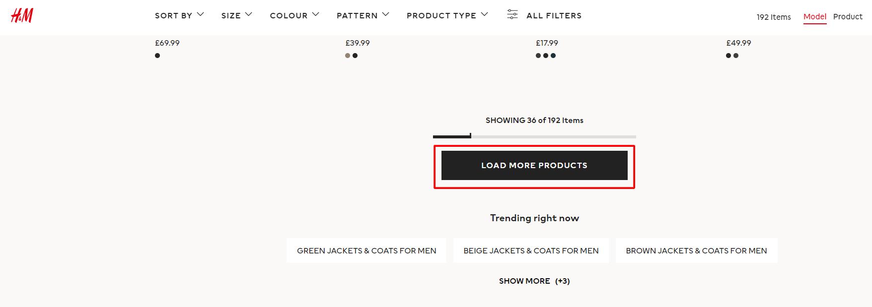 click to view more prodcuts ecomerce cta