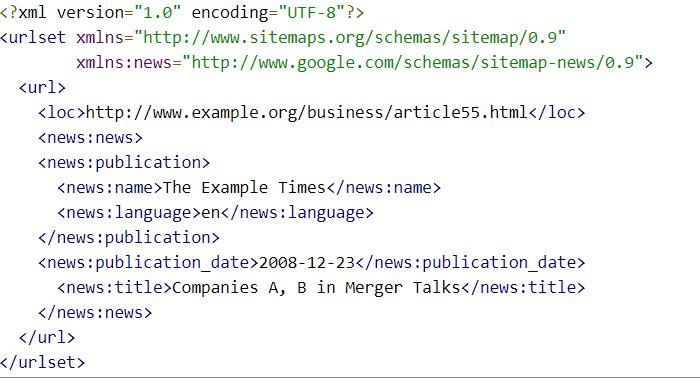 google news sitemap example