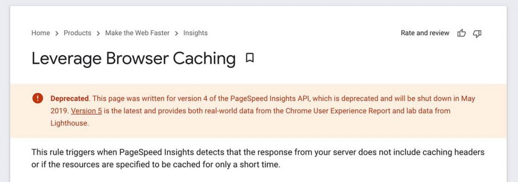 leverage browser caching google blog