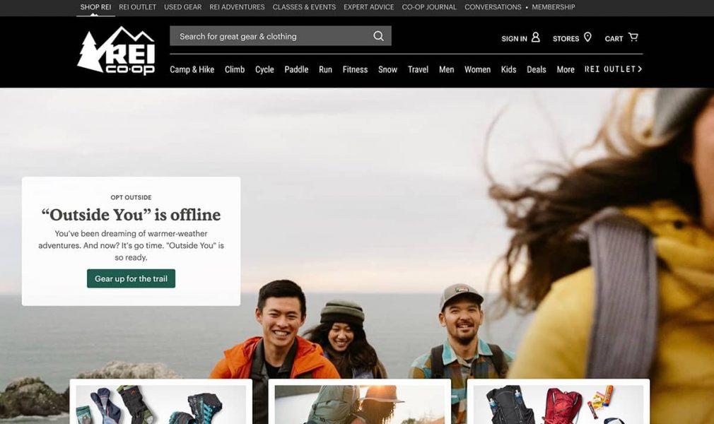 rei coop homepage
