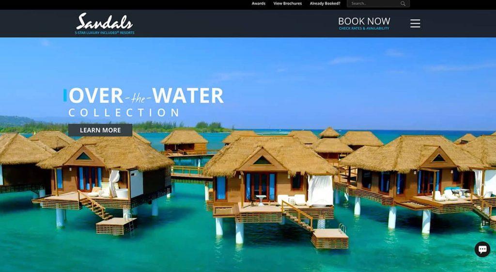 sandals homepage
